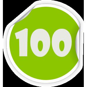 100-sticker