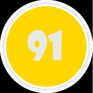91 Sticker