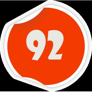 92 Sticker