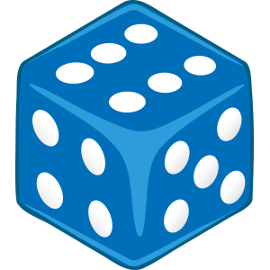 Sticker Dice Blue