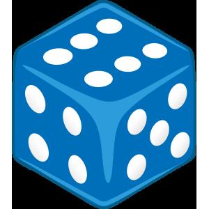 Sticker Dice Blue