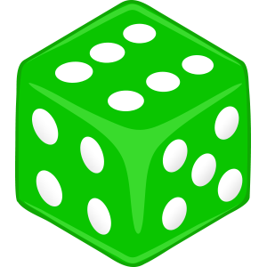Sticker Dice Green