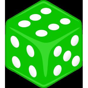 Sticker Dice Green