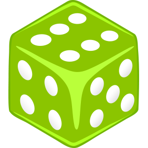 Sticker Dice Light Green