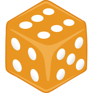 Sticker Dice Orange