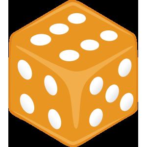 Sticker Dice Orange