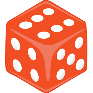 Sticker Dice Peach