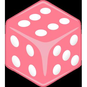 Sticker Dice Pink