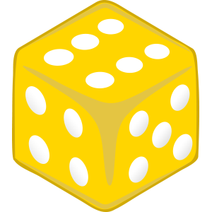 Sticker Dice Yellow