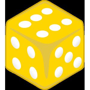 Sticker Dice Yellow