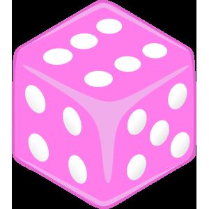 Sticker Dice lila