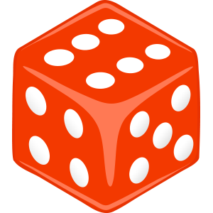 Sticker Dice red