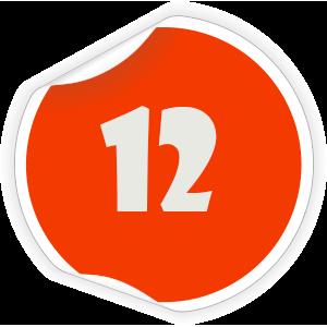 12 Sticker