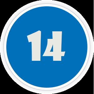 14 Sticker