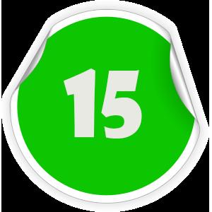 15 Sticker