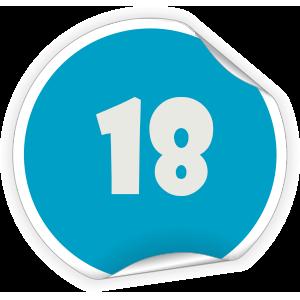 18 Sticker