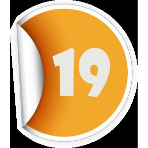 19 Sticker