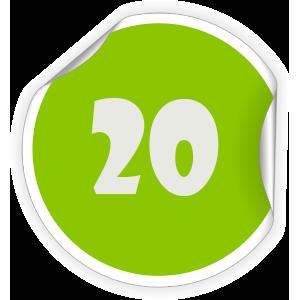 20 Sticker