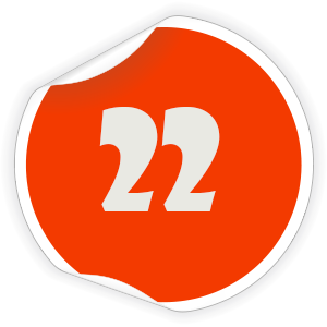 22 Sticker