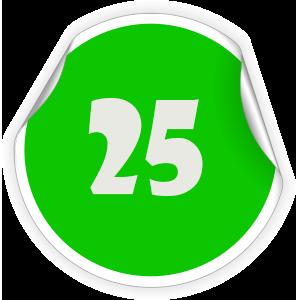 25 Sticker