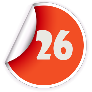 26 Sticker