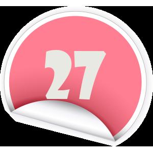 27 Sticker