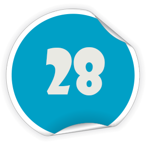 28 Sticker