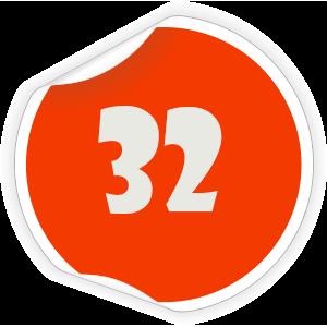 32 Sticker