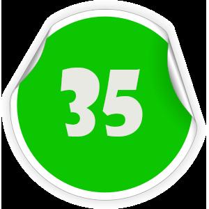 35 Sticker