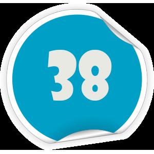 38 Sticker
