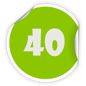 40 Sticker