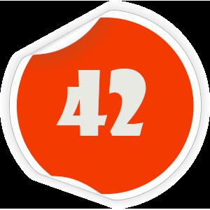 42 Sticker