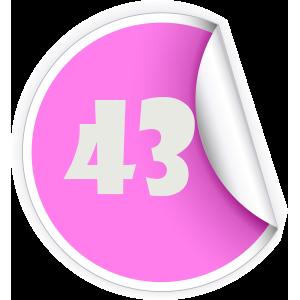 43 Sticker