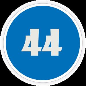 44 Sticker