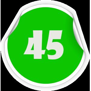 45 Sticker