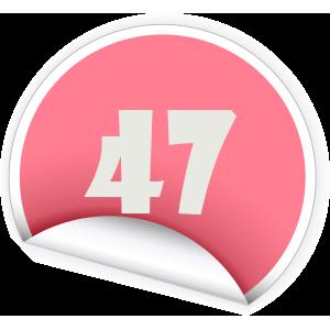 47 Sticker