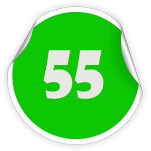 55 Sticker