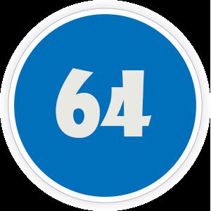 64 Sticker