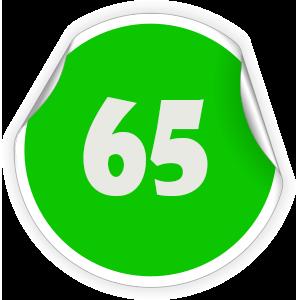 65 Sticker