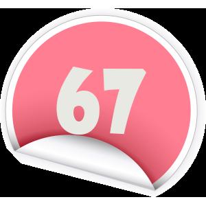 67 Sticker