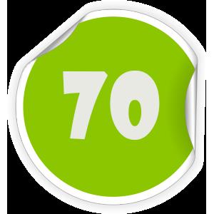 70 Sticker