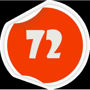 72 Sticker