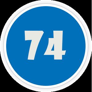 74 Sticker