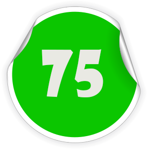 75 Sticker