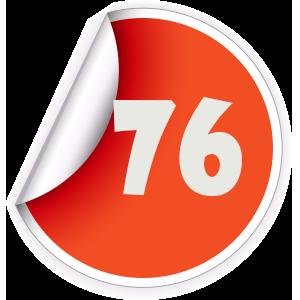 76 Sticker