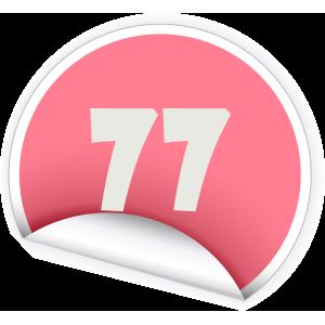 77 Sticker