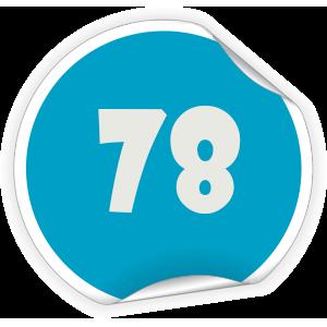 78 Sticker