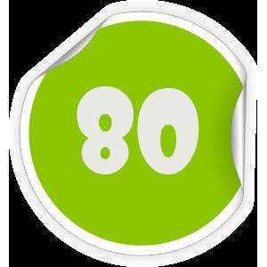 80 Sticker