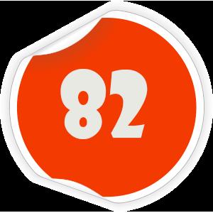 82 Sticker
