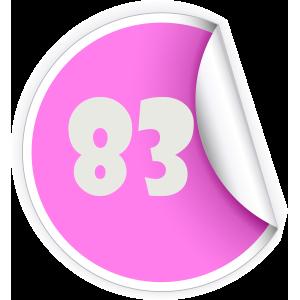 83 Sticker